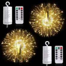 Garden Room Party Wedding Decoration Battery Operated Firework Light LED Twinkle outdoor string solar led fairy light