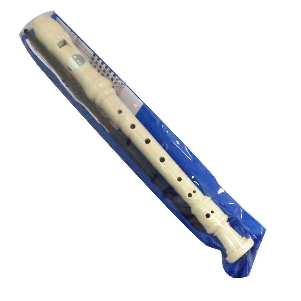 Abs [ Musical Instrument Chinese ] 8 Hole White ABS Plastic Musical Instrument Chinese Flute For Kids With PVC Bag