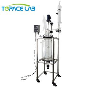 1-200L Chemical Equipment Vertical Type Corrosion Resistance Glass Lined Reactor/Jacketed Glass Reactor