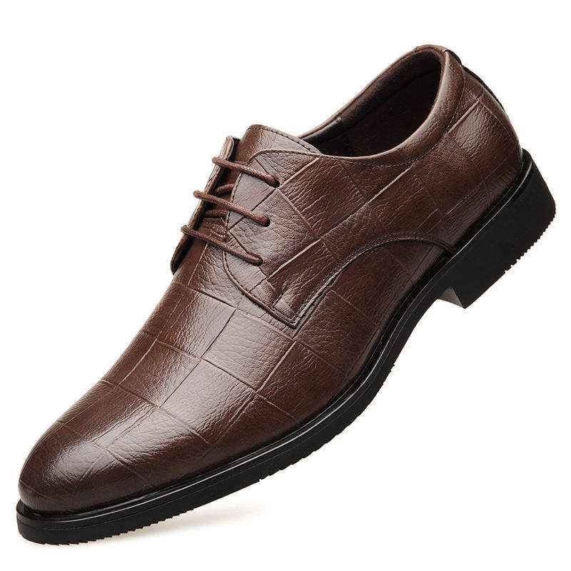 Men's formal business office casual dress shoes male wedding leather shoes