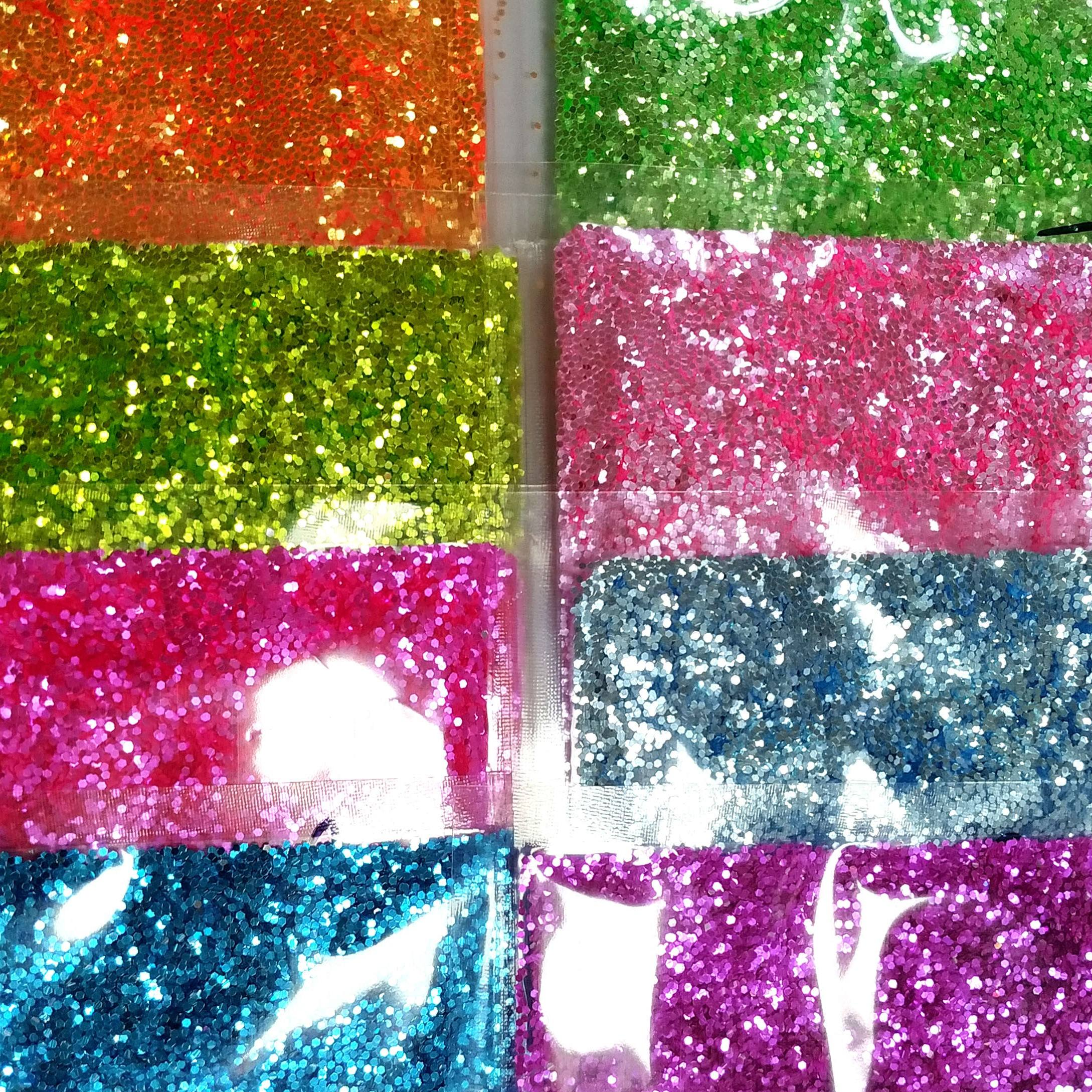 factory direct sale high flash fluorescent polyester glitter craft supplies christmas decoration glitter