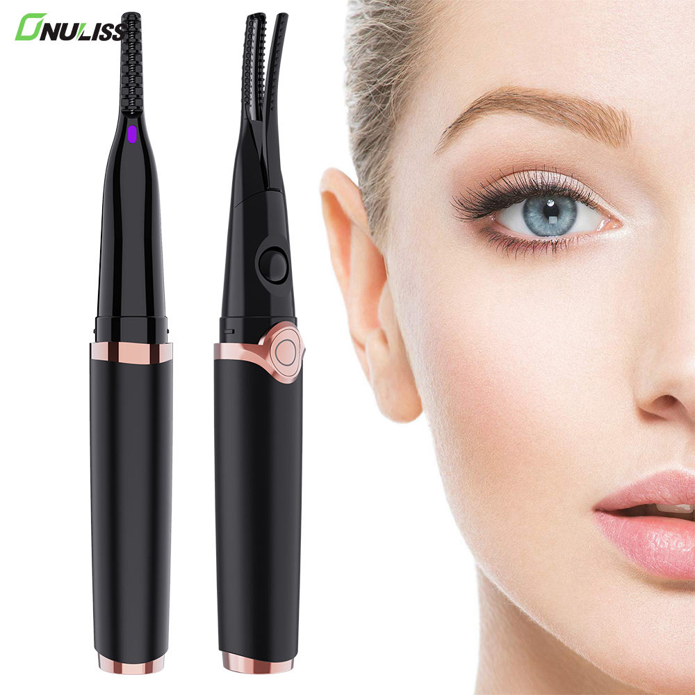 Easy Curler Eyelash With Clip Comb rizador de pestanas Magnetic Mini Warm Private Label Electric Heated Eyelash Curler