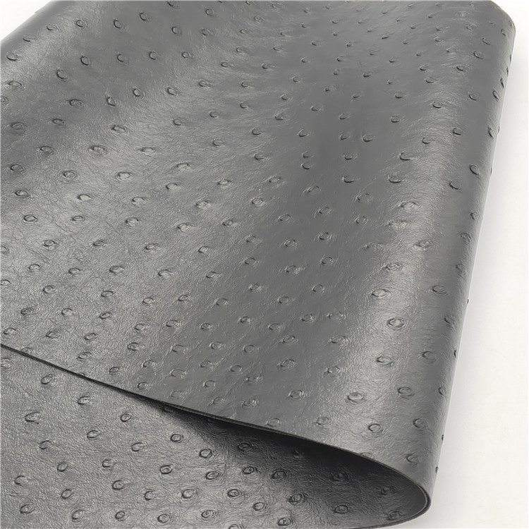 Wholesale Ostrich Pattern Synthetic Leather Fabric PVC Artificial Leather