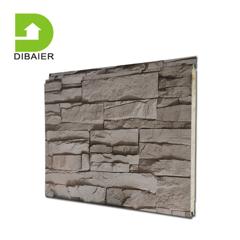 insulating 3d effect polyurethane sandwich external decorative panel for building panel