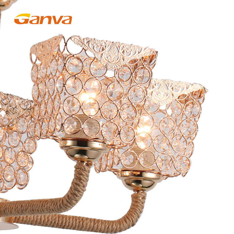 Ganva New Design Modern Lobby Hotel E27 Crystal Blown Glass Chandeliers Price