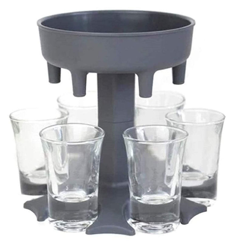 6 Ways Shot Glass Dispenser Glasses Hanging Holder Stand Rack Carrier Liquor Dispenser Gifts Drinking Games for Cocktail Party