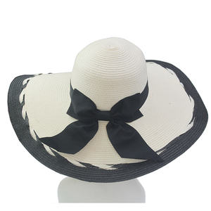 ABPF Fancy Wide Brim Sombrero Summer Beach Sun PP Straw Hats Foldable