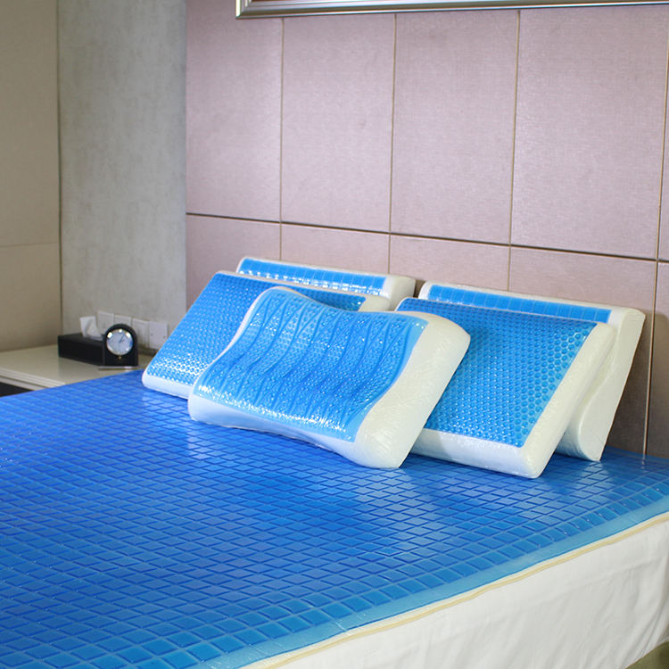 MSDS Factory W/O Memory Foam Visco PU Pad Cooling Gel Mattress Topper