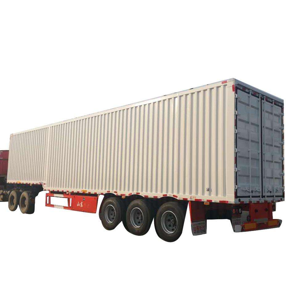 China manufacturer cargo box semi trailer or semi box trailer