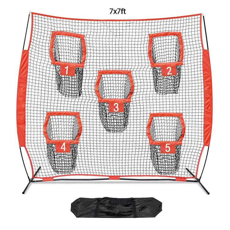 High Quality 7x7' Portable Folding Football Practice Training Net And Football Passing Accuracy Training Equipment
