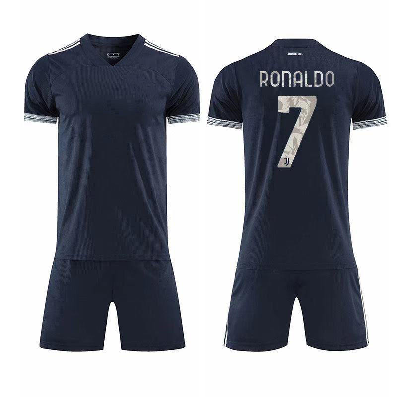 Dark blue Italian club football jersey baby football shirt adult football jersey clothes and pants