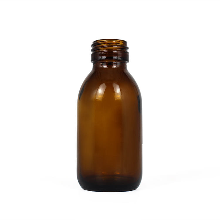 oral liquid medicine amber 100cc glass bottle for syrup