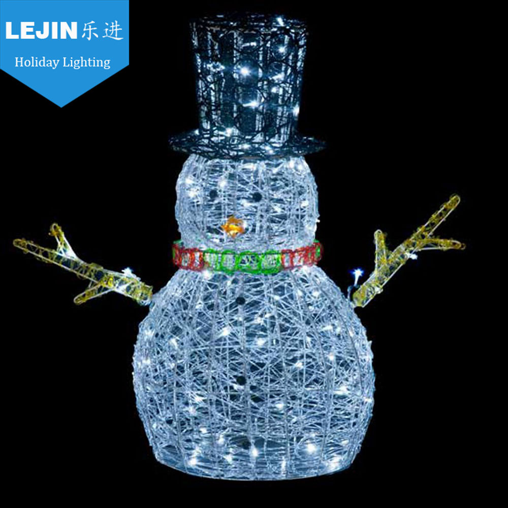 2d snowman motif light North America with holiday decorative light