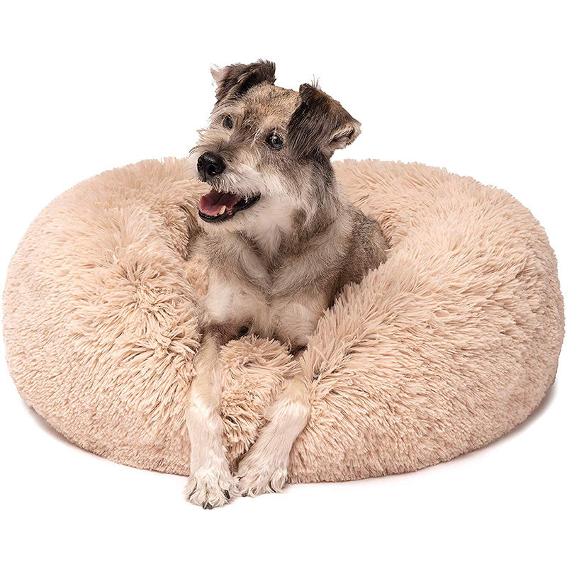 Pet Cats and Dogs Luxury Donut Brand Warm Soothing Joints Deepen Sleeping Bed
