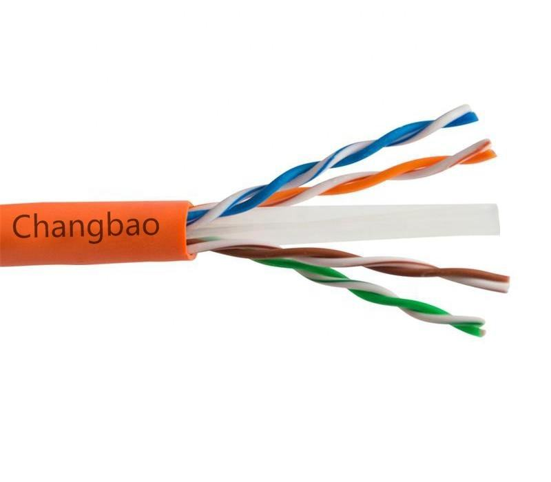 Changbao 23AWG 0.54 Mm 4 Paar Pvc Of Lszh Jas 305 M Per Rol Rj45 <span class=keywords><strong>Lan</strong></span> Ethernet Cat6a Cat6 Kabel netwerk