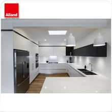 Modern design with HIGOLD tall basket high glossy white/black kitchen cabinet from customized size