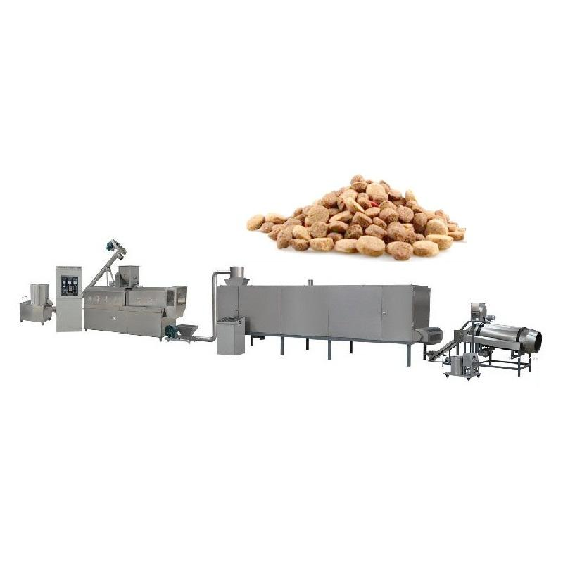 Different Capacities Wheat Bran Animal Feed Pet Dog Food Fodder Production Line Machinery Price