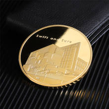 Custom Design Souvenir Commemorative Metal Plated Gold Coin Factory Made