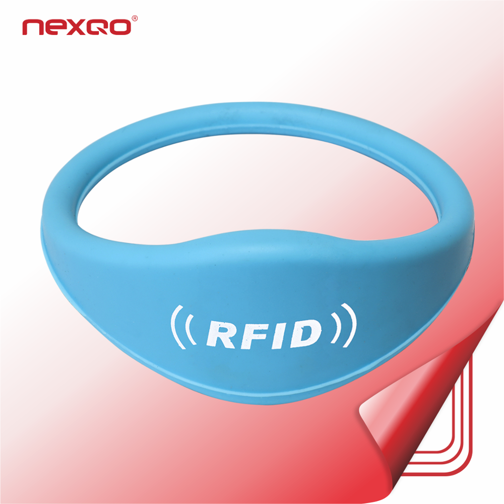RSW01 Factory Price Writable Waterproof Passive NFC Bracelet RFID Silicone Wristband