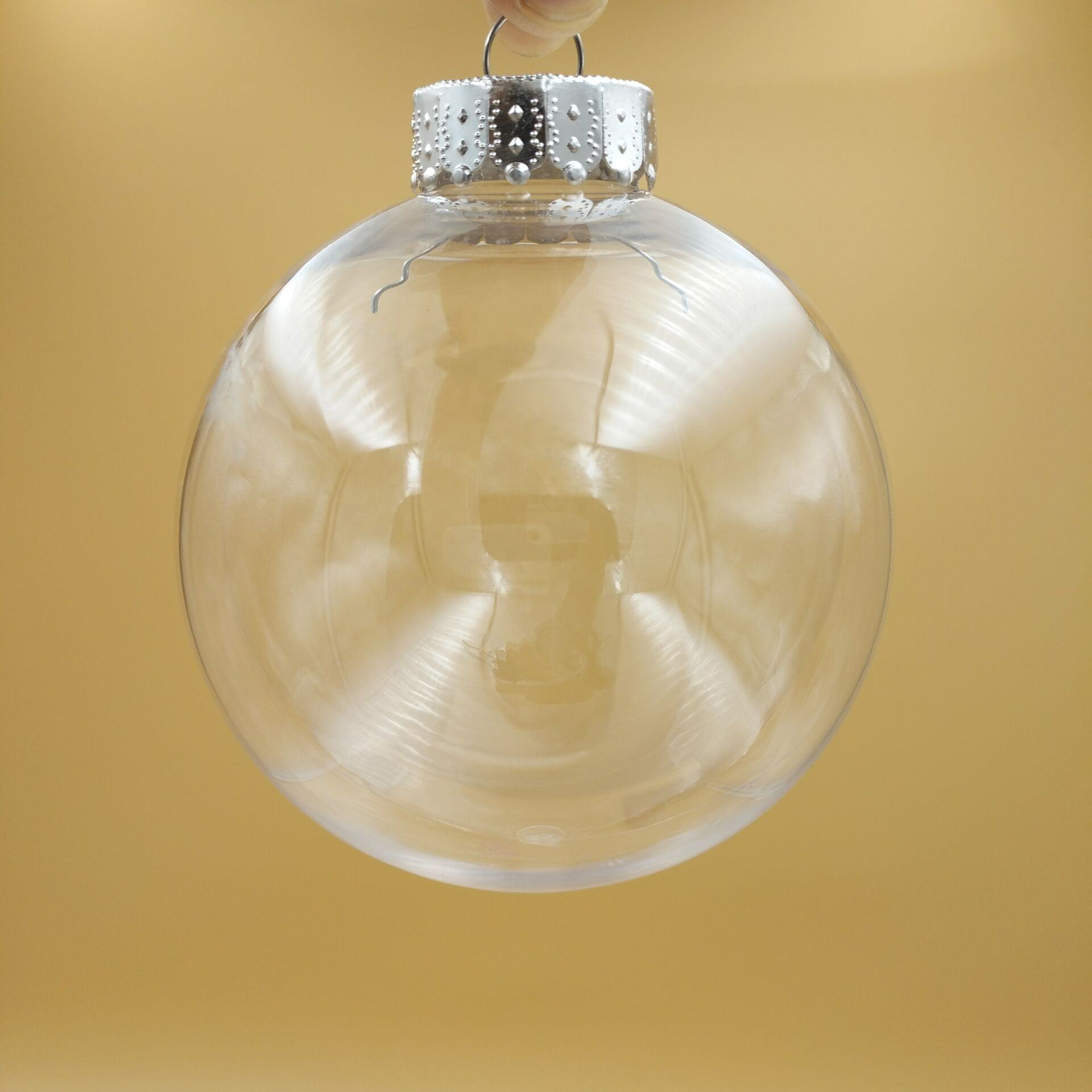 factory supply 8cm clear plastic christmas ball ornament