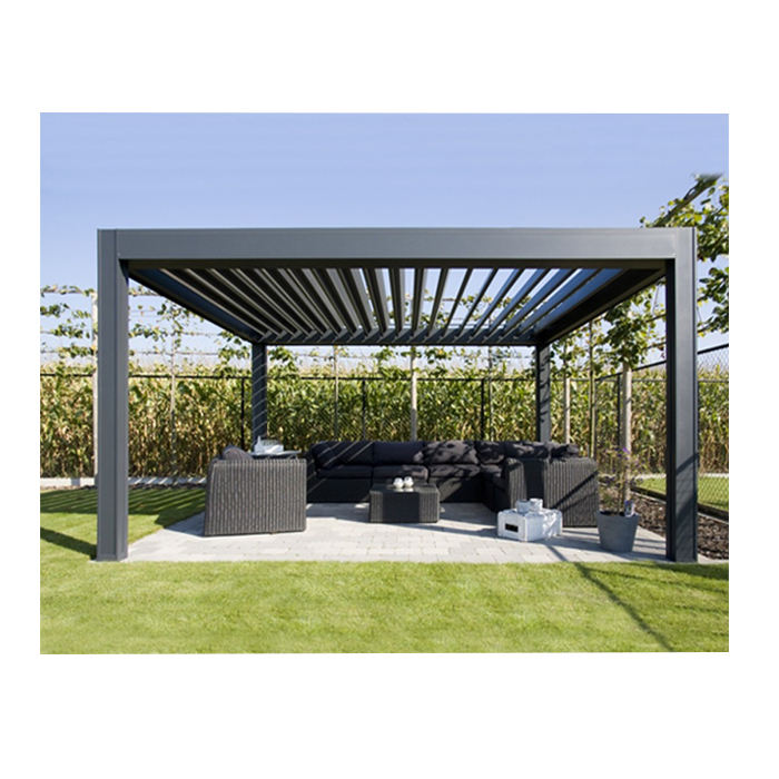Topwindow Aluminum Bioclimatic Louvered Roof Pergola Kits Gazebo Bioclimatique Aluminium Pergola