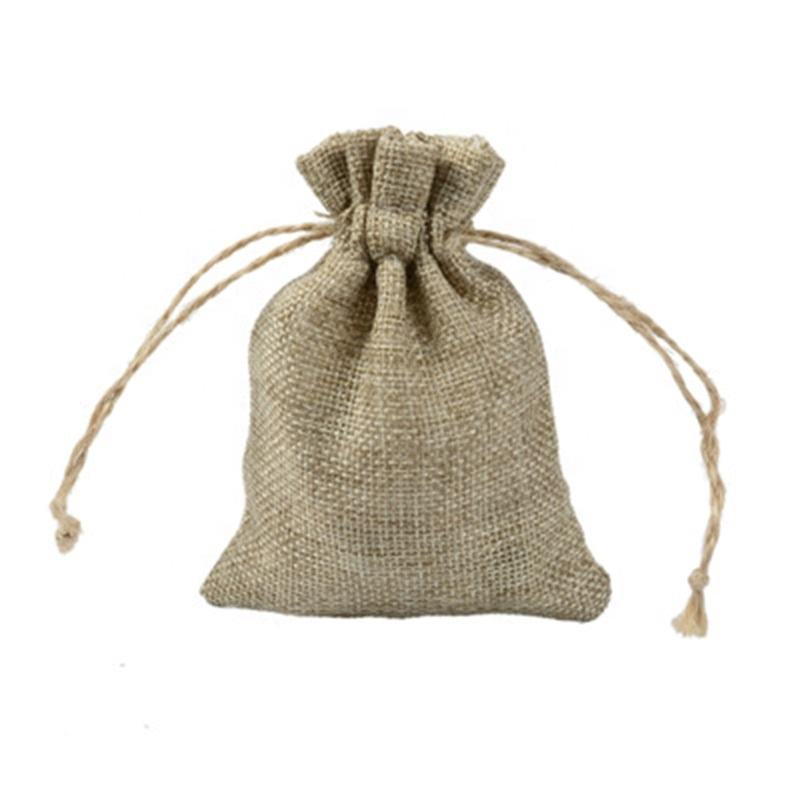 7x9cm Small Linen Drawstring Bag Retro Beam Mouth Cosmetics Jewelry Packaging Burlap Bag Spot Wholesale Promotion Jute Bags