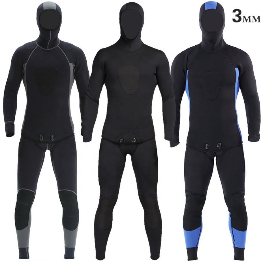 Lặn Cao Cấp Vải Với Hai Mặt <span class=keywords><strong>Hyplon</strong></span> Wetsuit 3 Mm Wetsuits Lướt Sóng Spearfishing Wetsuit