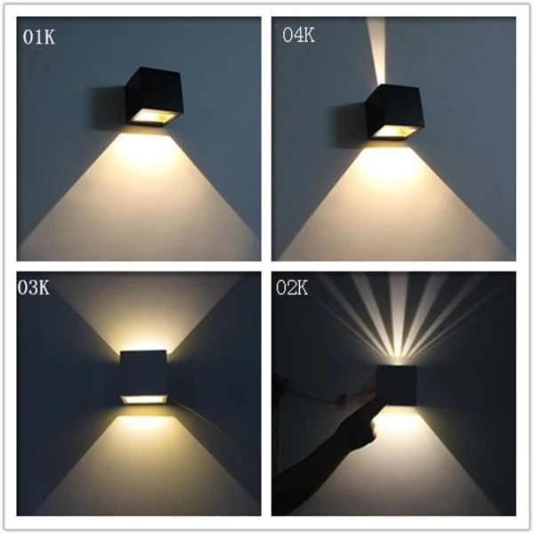 Kontak black box style hotel Modern LED wall sconce indoor LED wall light square up down LED wall lamp