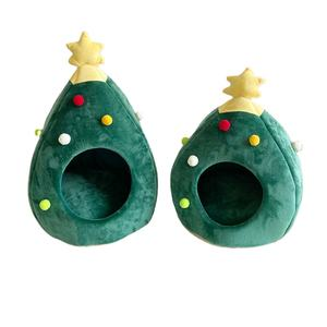 New Christmas Tree Cat House Kennel Winter Warm Pet Bed House Mongolian cat house christmas cave bed