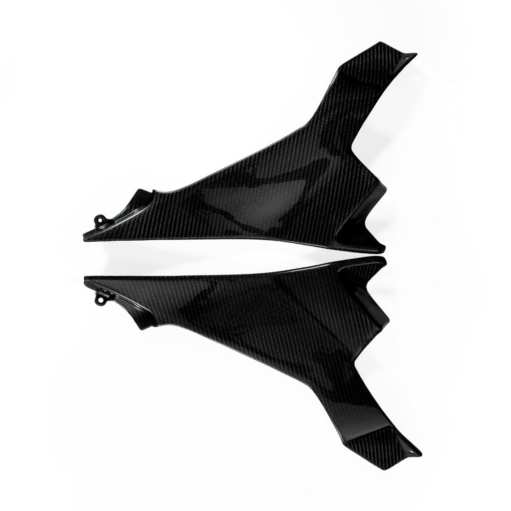 Motorcycle 100% Carbon Fiber Side fairing Cover For Ninja 400 2019 glassy black