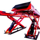 4T Hydraulic wheel alignment scissor car lift with two secondary ja