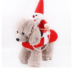 Pet clothes winter Christmas holiday clothes plus velvet double layer wholesale dog clothes