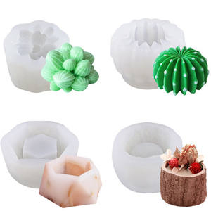 Succulent silicone mold for chocolate potted cake dessert MOUSse DIY 3D scented candle mold for simulated plants