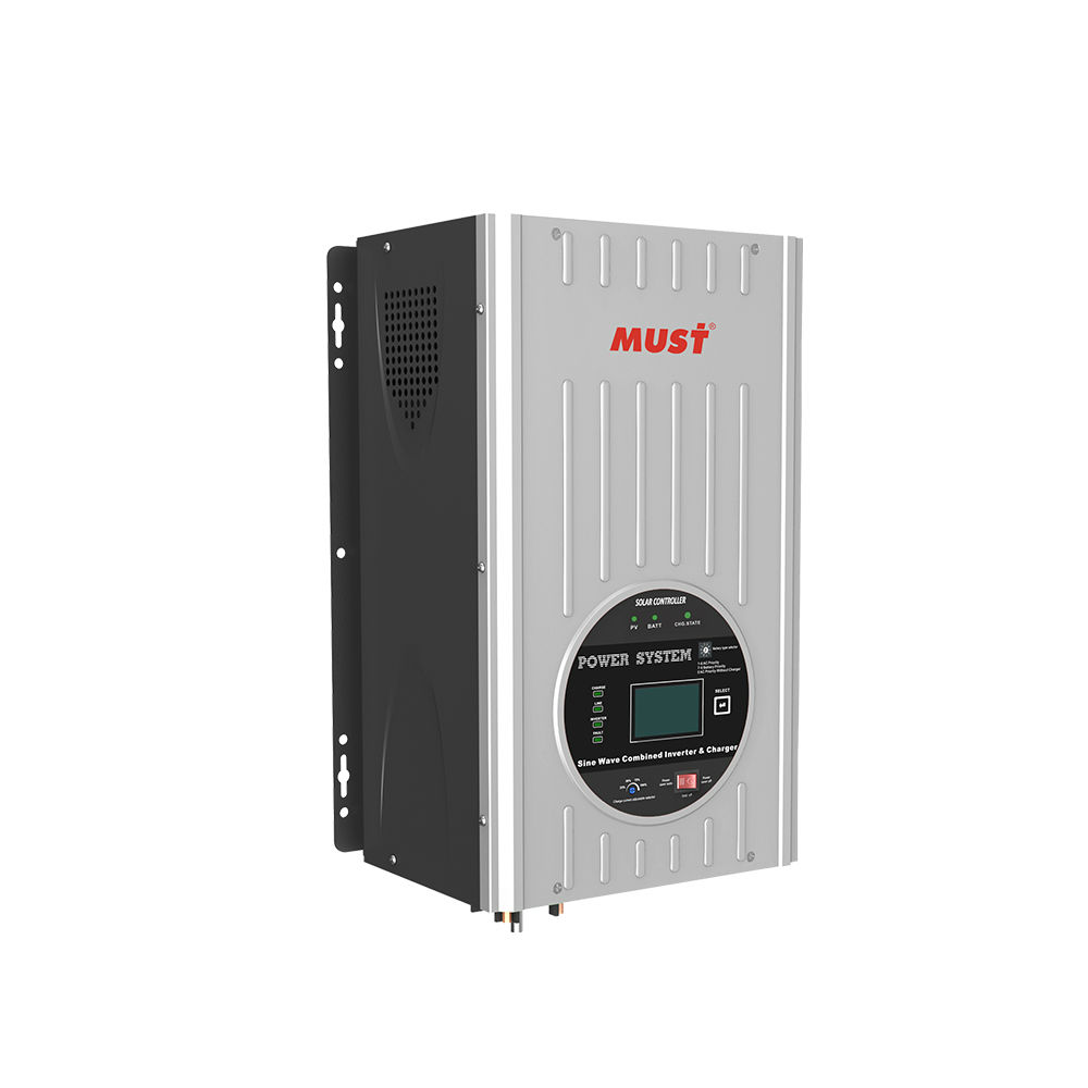 MUST 6kw 24v 220v off grid solar inverter pv panel with battrty