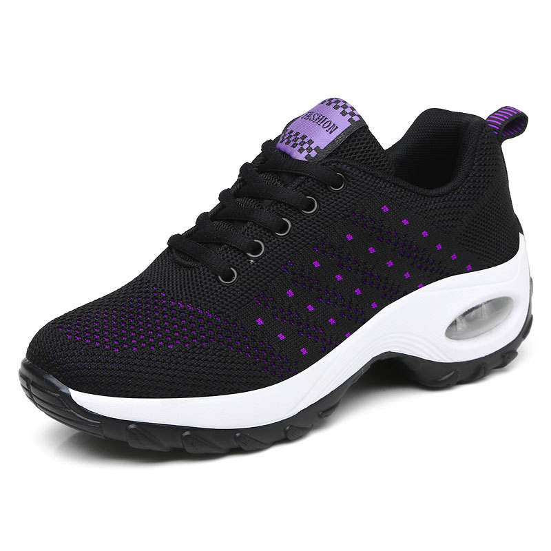 Ladies Breathable Lightweight Comfort Flexible Lace-up Sports Women Running Shoes