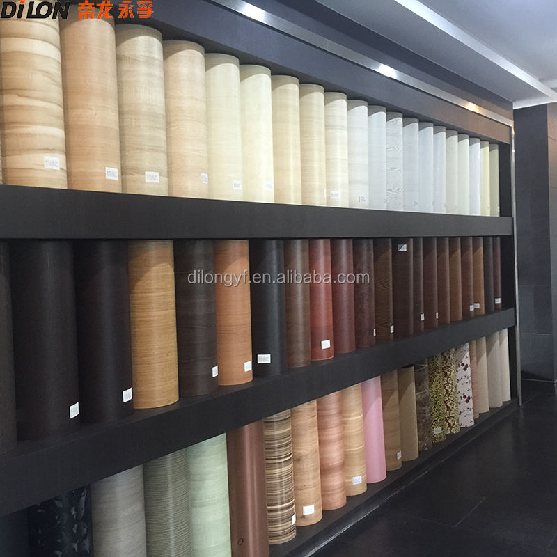Wood grain pvc lamination film for furniture, decorative foil
