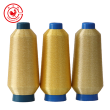 Pure Gold Fluorescent Polyester Silk Metallic Yarn Thread for ST MS Type Embroidery