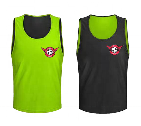 Wholesale high quality soccer sport mesh vest double sided sport bibs training bib reversible