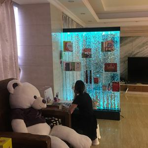 Home Bar Illuminated Led Furniture Water Bubble Wall Display Living Room Showcase Design