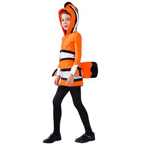 Dress Up Hot Sales Kid's Animal Costume Carnival Party Wear Orange Fish Cosplay Costumes