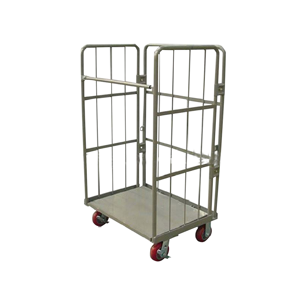 Cart manufacturer Warehouse Foldable collapsible folding 4 wheel roller container roll cage Chinese trolley cart
