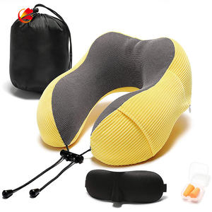 Travel pillow memory foam 360 degree head support comfortable adjustable neck pillow with storage bag light travel pillow