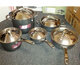 Anolon Nouvelle Copper Hard Anodized Nonstick 10 Piece Cookware Set, Oven Safe
