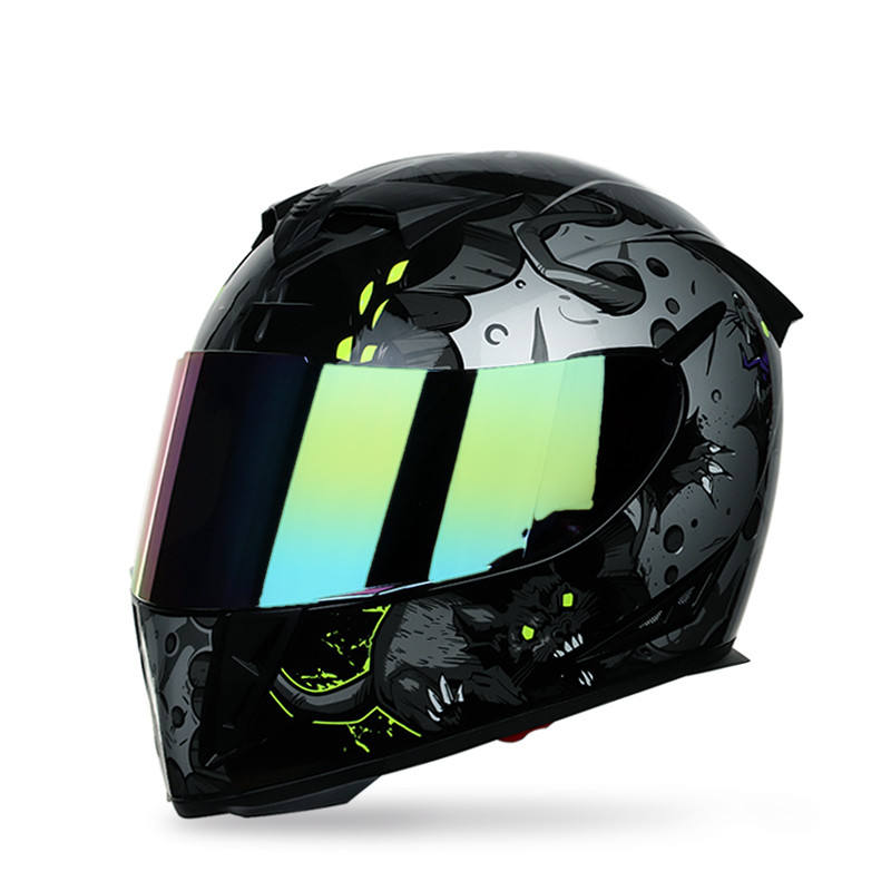 Not Sale Double Lens Motorbike Helmets Colorful Full Face ABS Motorcycle Helmets