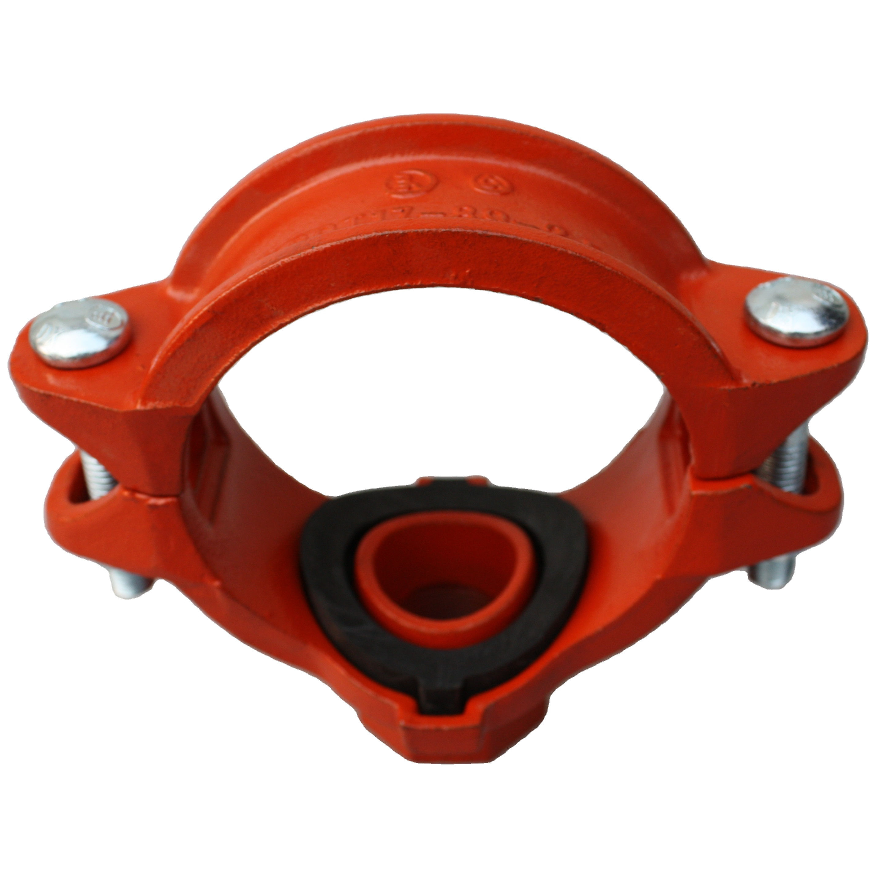 red colour grooved fittings and couplings mechanical tee grooved threaded