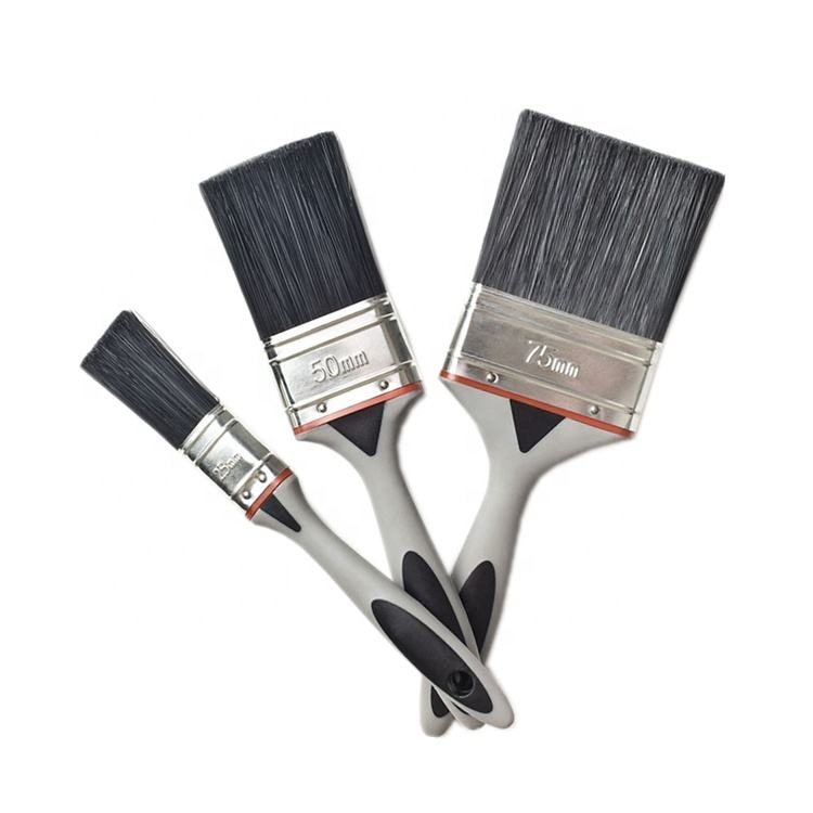 Different Size New Plastic Handle Synthetic Filaments Paint Brushes Watercolor Acrylic Brush for Wall Oil Painting