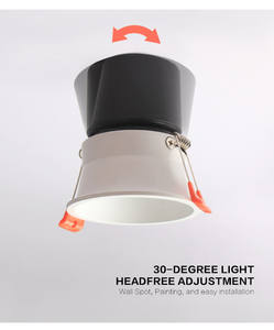 SD119 천장 스포트 라이트 dimmable 현대 조정 트림리스 recessed downlight 7W 실내 led 스포트 라이트