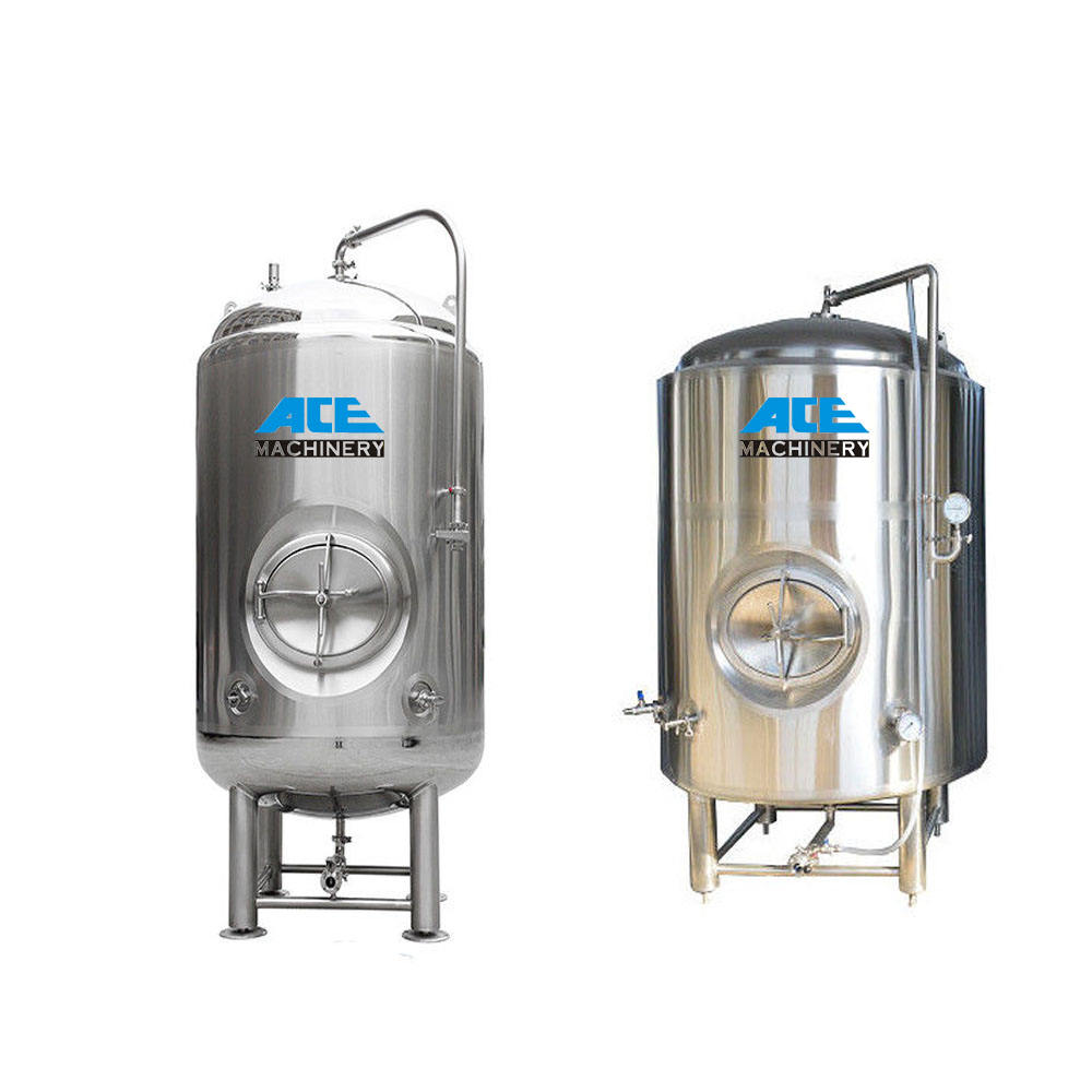 Ace Factory Stainless Steel 1000L- 5000L Beer Fermenter Vessel Conical Bottom Brewing Bright Beer Fermentation Tank