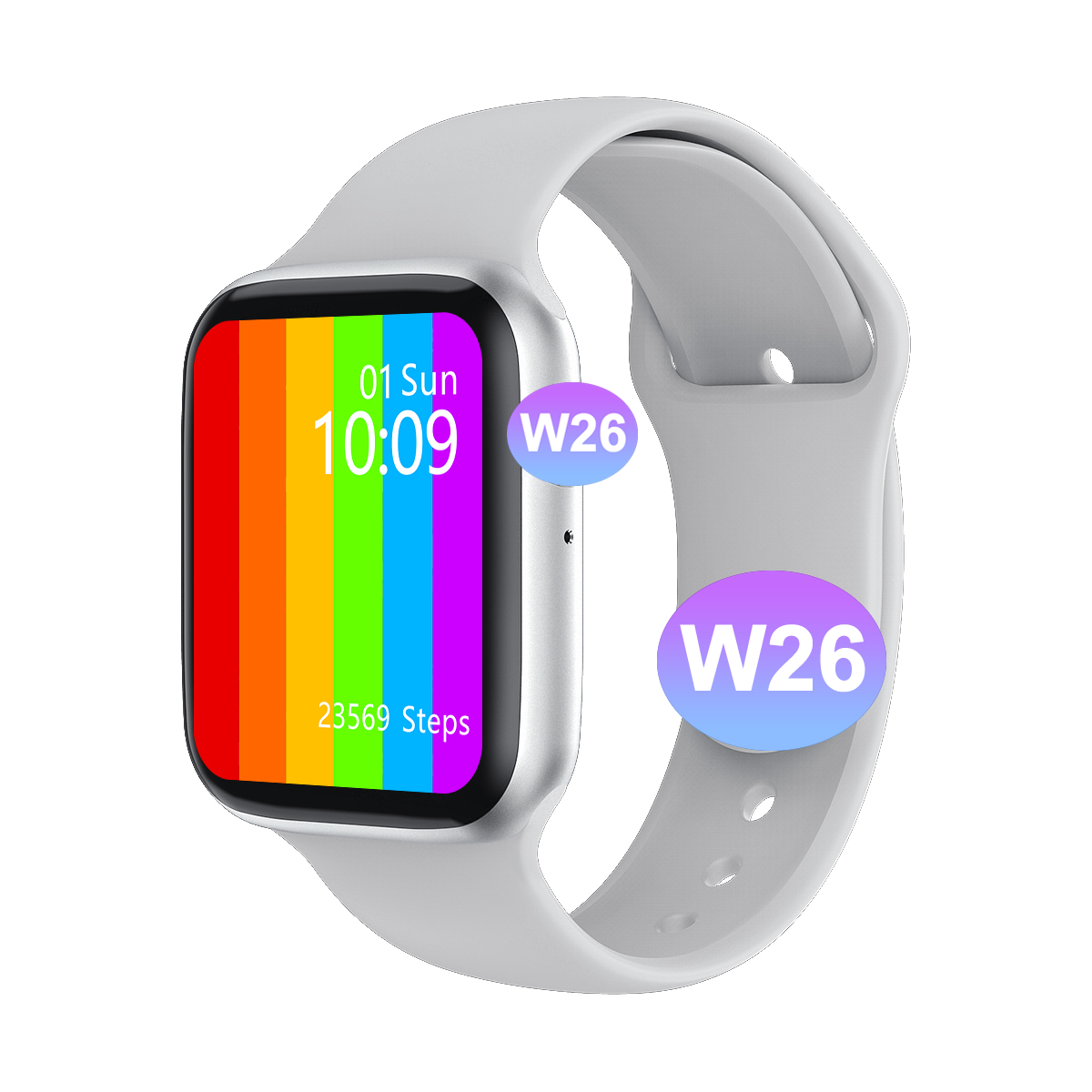 Oem Custom Smartwatch W26 <span class=keywords><strong>Serie</strong></span> 6 Smart Horloge Ip67 Waterdichte W26 Iwo Smart Horloge