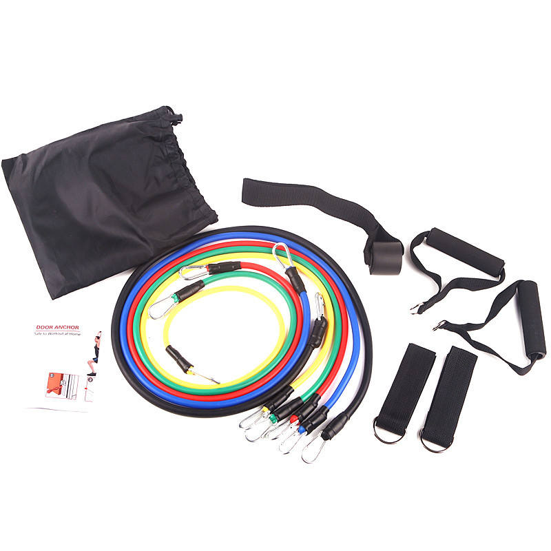 11 Stks/set Fitness Resistance Bands <span class=keywords><strong>Oefening</strong></span> Tubes Praktische Elastische Training Rope